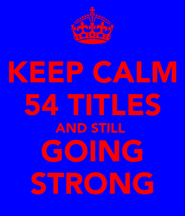 KEEP CALM 54 TITLES AND STILL  GOING STRONG