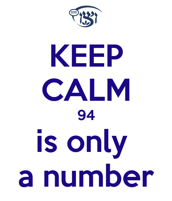 KEEP CALM 94 is only  a number