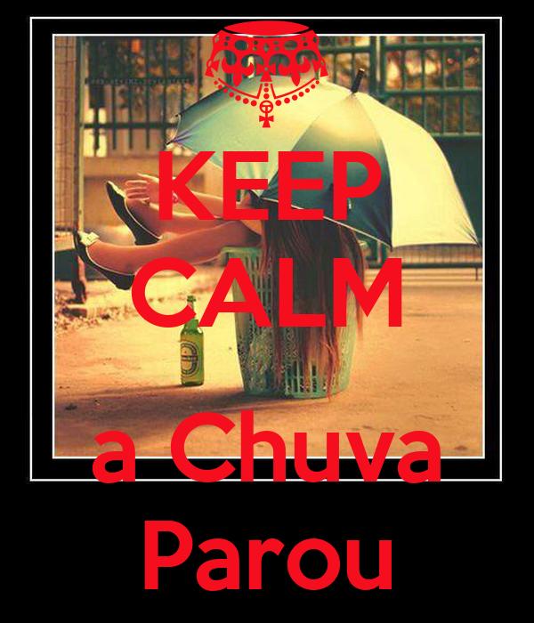 KEEP CALM  a Chuva Parou