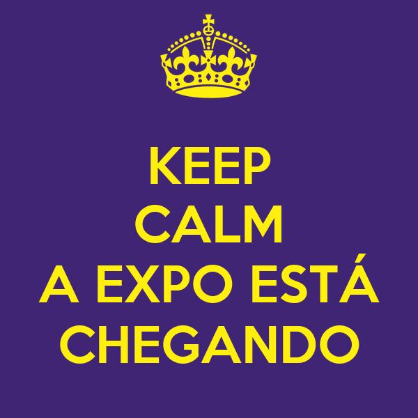 KEEP CALM  A EXPO ESTÁ CHEGANDO