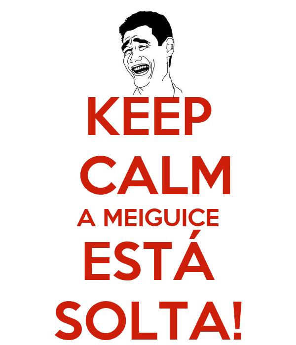 KEEP  CALM A MEIGUICE ESTÁ SOLTA!