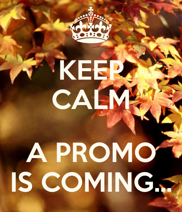 KEEP CALM  A PROMO IS COMING...