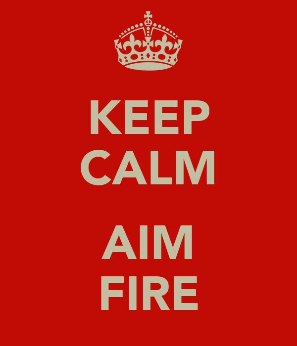 KEEP CALM  AIM FIRE