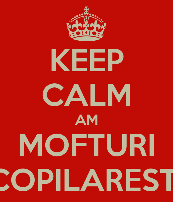 KEEP CALM AM MOFTURI COPILARESTI