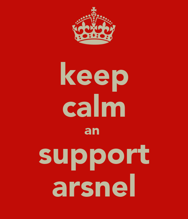 keep calm an  support arsnel
