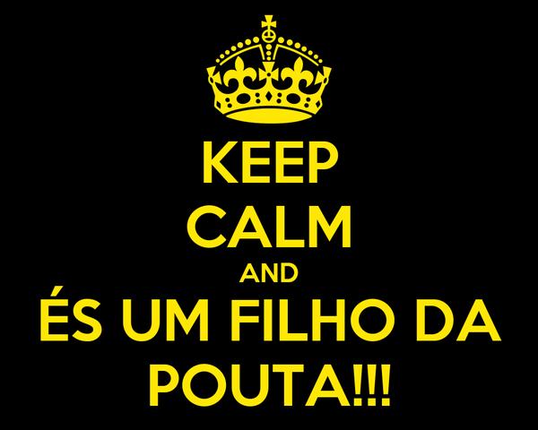 KEEP CALM AND ÉS UM FILHO DA POUTA!!!