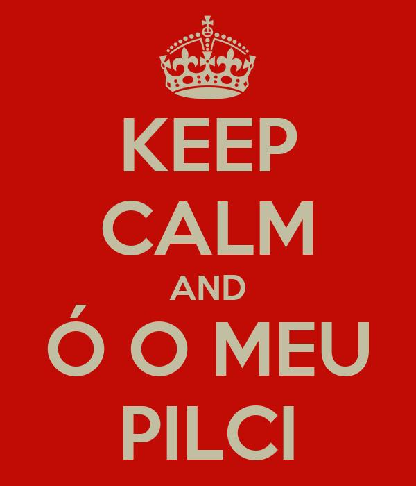 KEEP CALM AND Ó O MEU PILCI