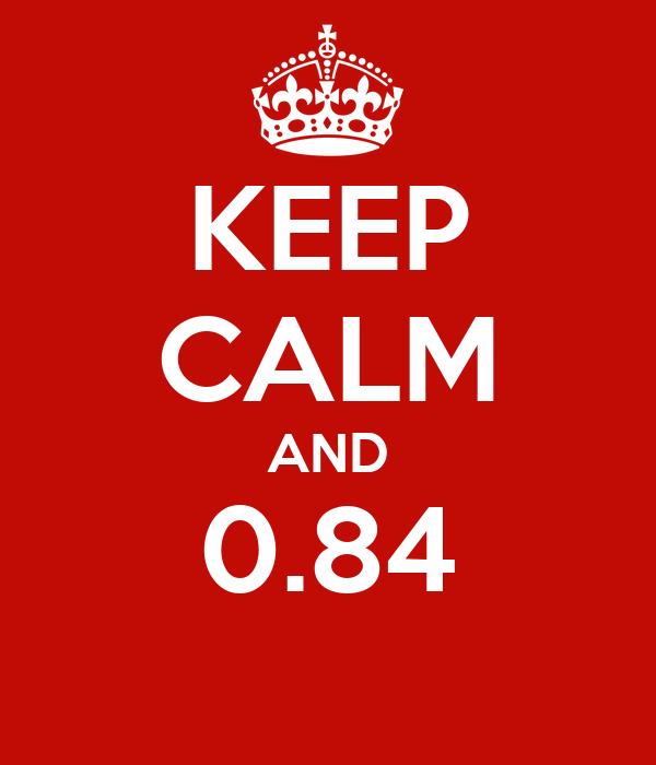 KEEP CALM AND 0.84
