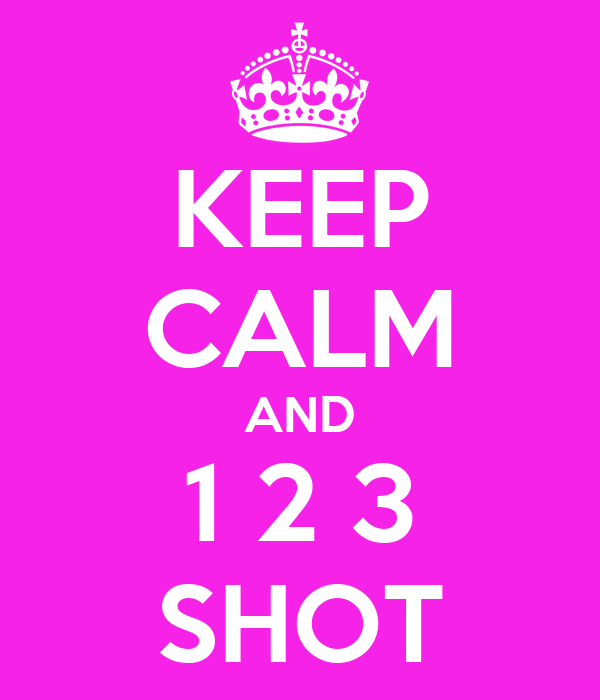KEEP CALM AND 1 2 3 SHOT