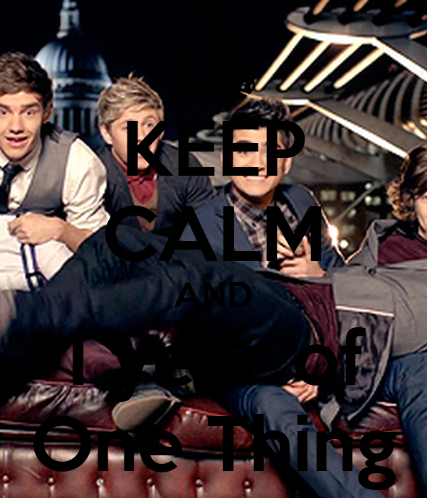 KEEP CALM AND 1 year of One Thing