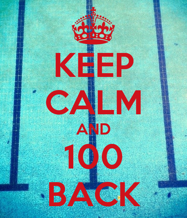 KEEP CALM AND 100 BACK