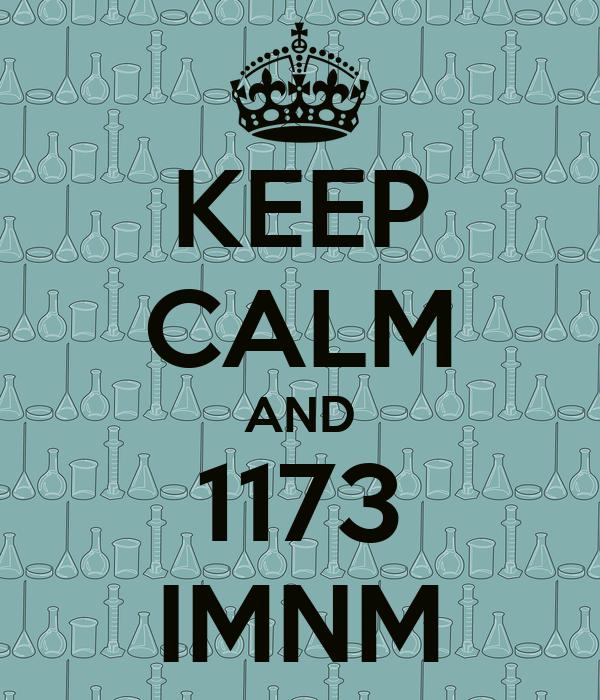 KEEP CALM AND 1173 IMNM