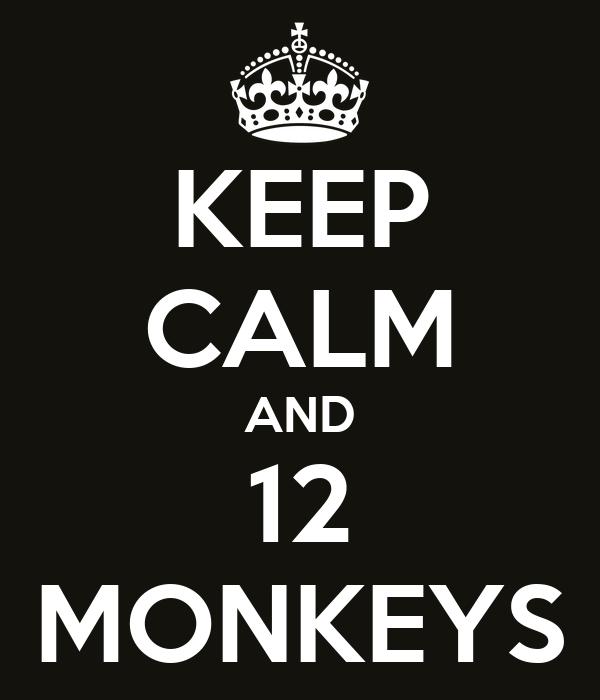 KEEP CALM AND 12 MONKEYS