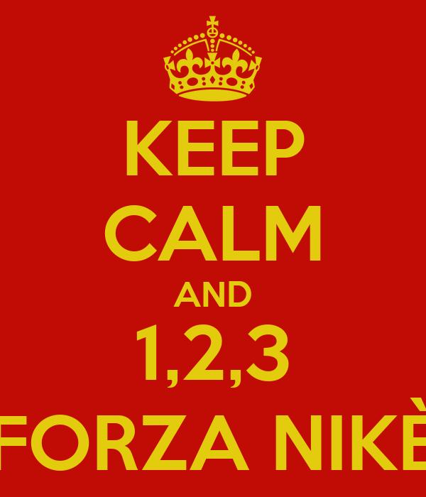 KEEP CALM AND 1,2,3 FORZA NIKÈ