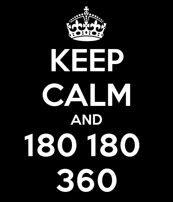 KEEP CALM AND 180 180  360