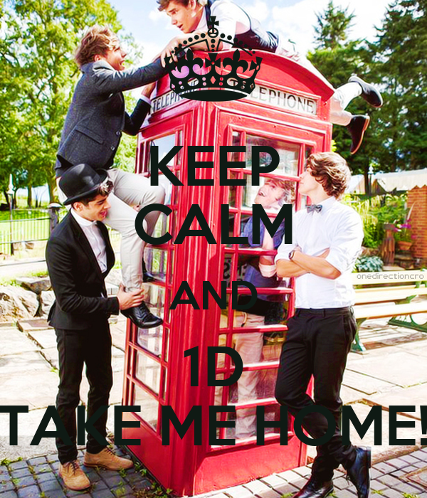 KEEP CALM AND 1D TAKE ME HOME!
