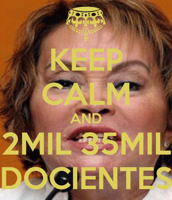 KEEP CALM AND 2MIL 35MIL DOCIENTES