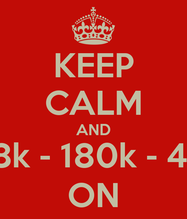 KEEP CALM AND 3,8k - 180k - 42k ON