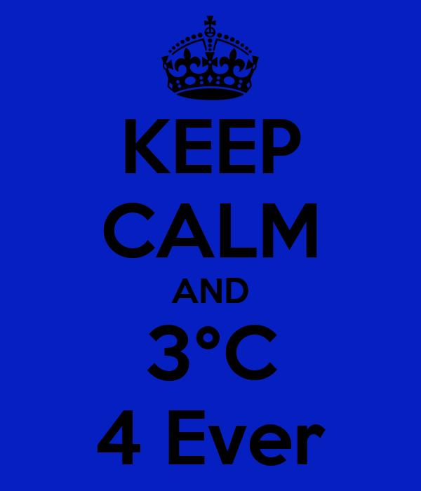 KEEP CALM AND 3°C 4 Ever