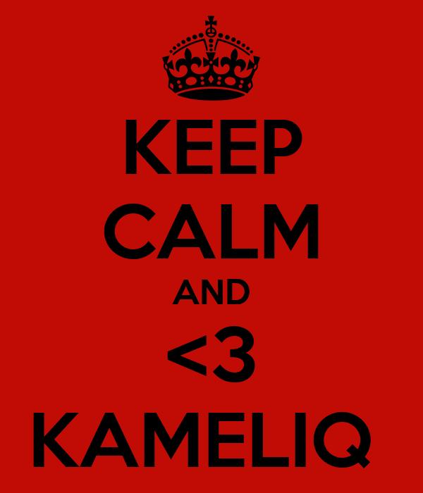 KEEP CALM AND <3 KAMELIQ