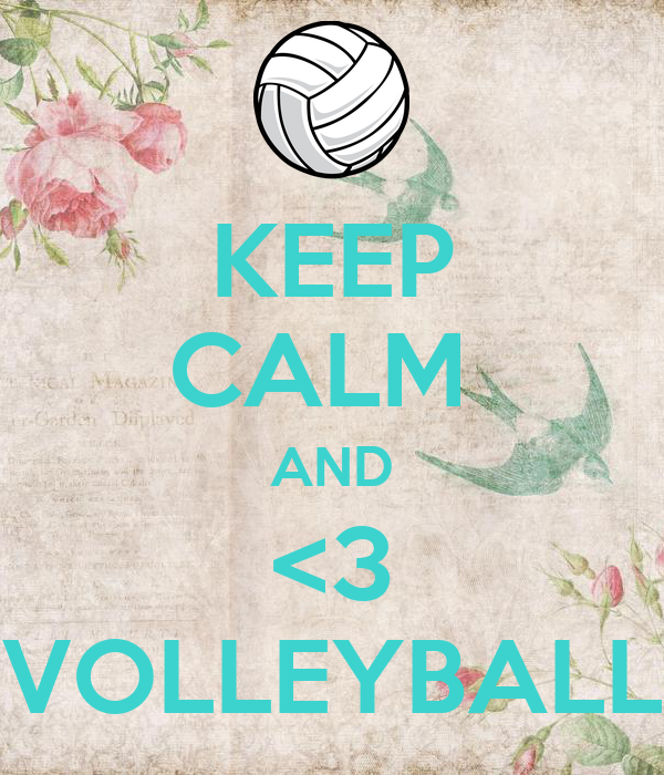 KEEP CALM  AND <3 VOLLEYBALL