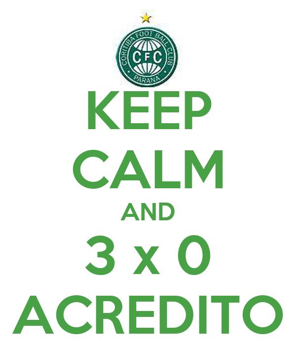 KEEP CALM AND 3 x 0 ACREDITO