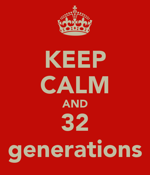 KEEP CALM AND 32 generations