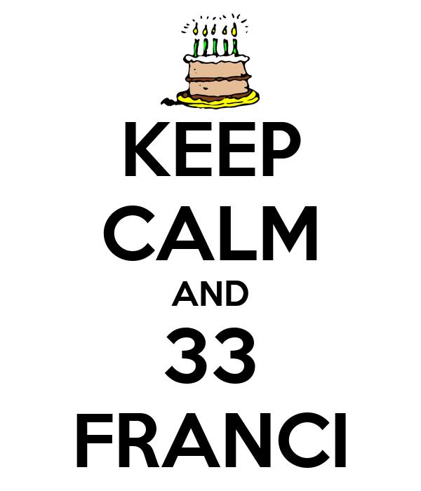 KEEP CALM AND 33 FRANCI