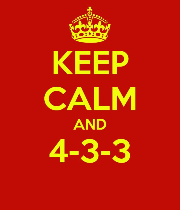 KEEP CALM AND 4-3-3