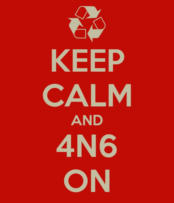 KEEP CALM AND 4N6 ON