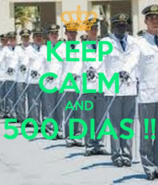 KEEP CALM AND 500 DIAS !!