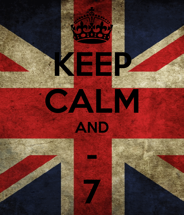 KEEP CALM AND - 7