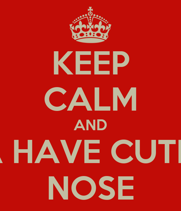 KEEP CALM AND A HAVE CUTE  NOSE