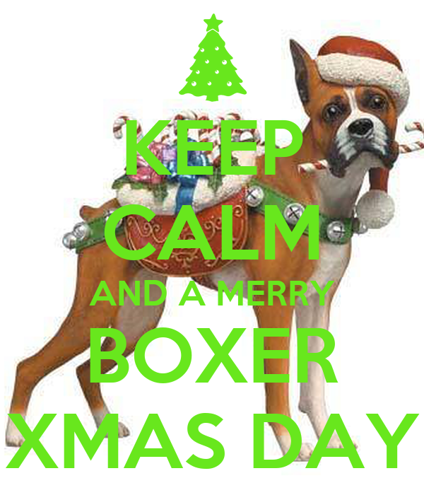 KEEP CALM AND A MERRY BOXER XMAS DAY
