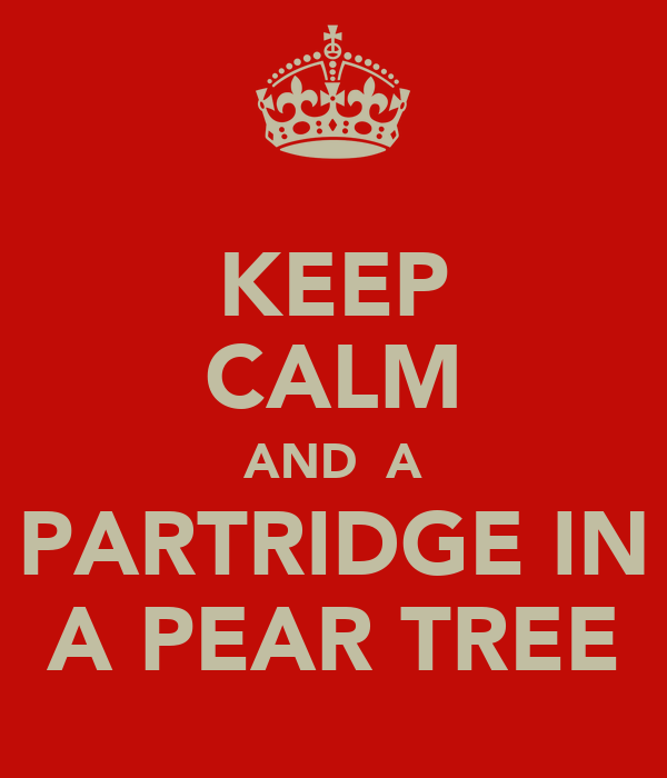 KEEP CALM AND  A PARTRIDGE IN A PEAR TREE