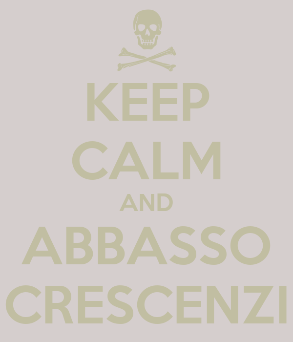KEEP CALM AND ABBASSO CRESCENZI