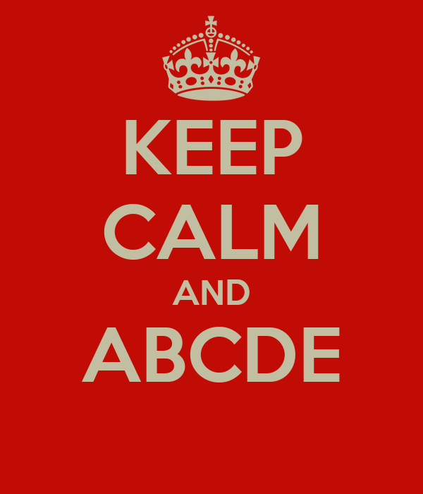 KEEP CALM AND ABCDE