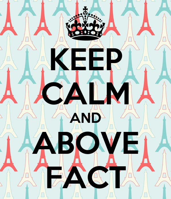 KEEP CALM AND ABOVE FACT