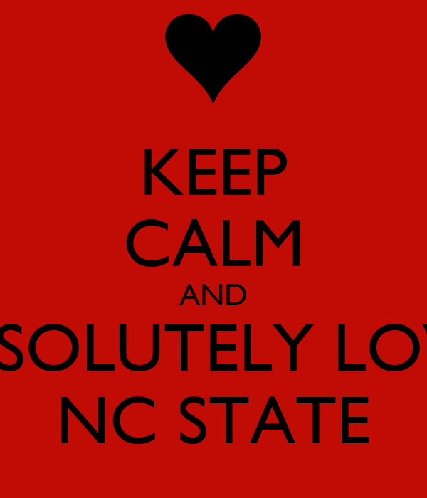 KEEP CALM AND ABSOLUTELY LOVE  NC STATE