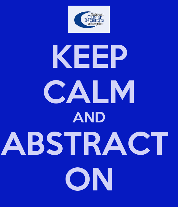 KEEP CALM AND ABSTRACT  ON