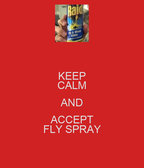 KEEP CALM AND ACCEPT FLY SPRAY