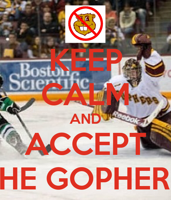 KEEP CALM AND ACCEPT THAT THE GOPHERS SUCK