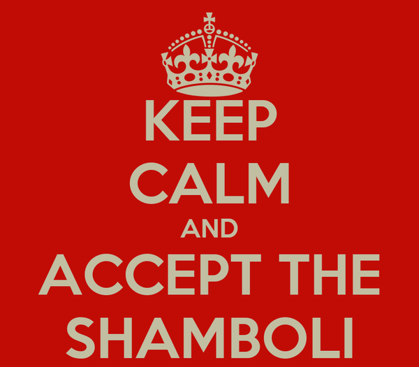 KEEP CALM AND ACCEPT THE SHAMBOLI