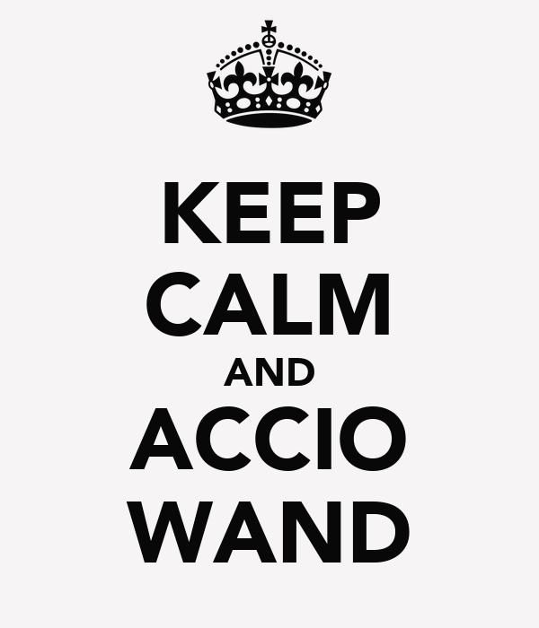 KEEP CALM AND ACCIO WAND