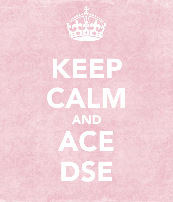 KEEP CALM AND ACE DSE