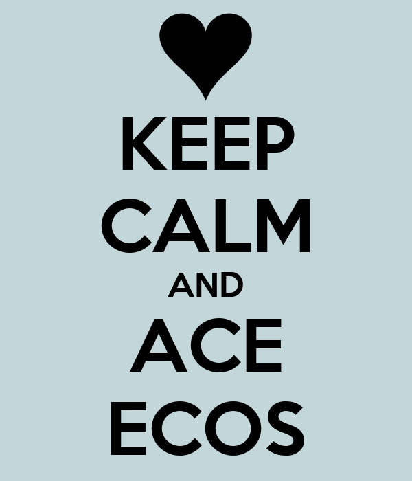 KEEP CALM AND ACE ECOS