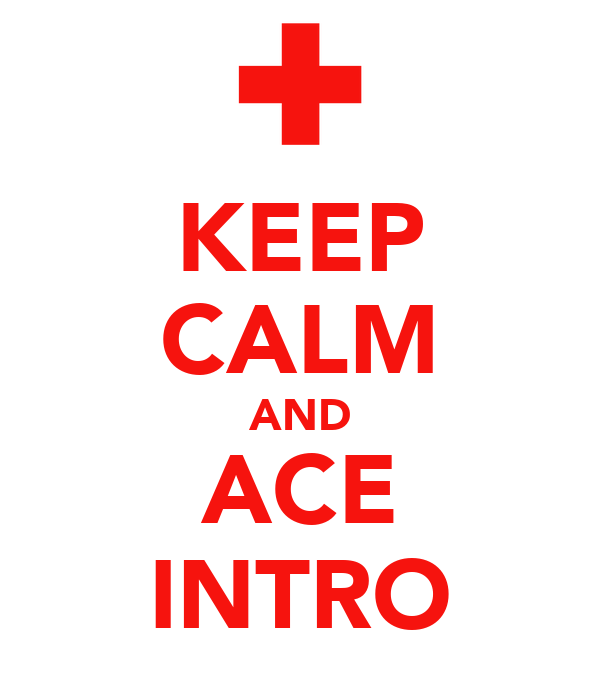 KEEP CALM AND ACE INTRO