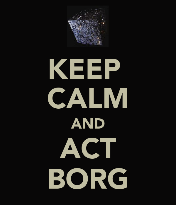 KEEP  CALM AND ACT BORG