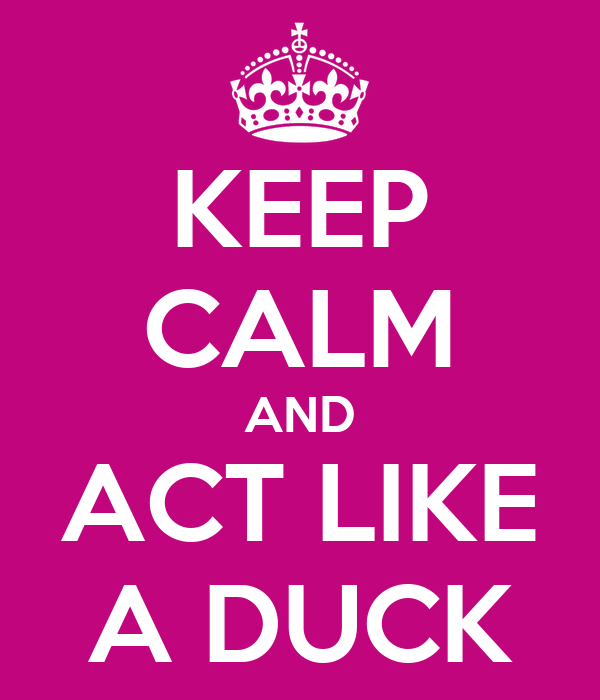 KEEP CALM AND ACT LIKE A DUCK