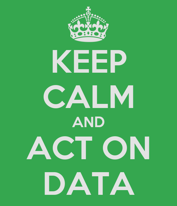 KEEP CALM AND ACT ON DATA